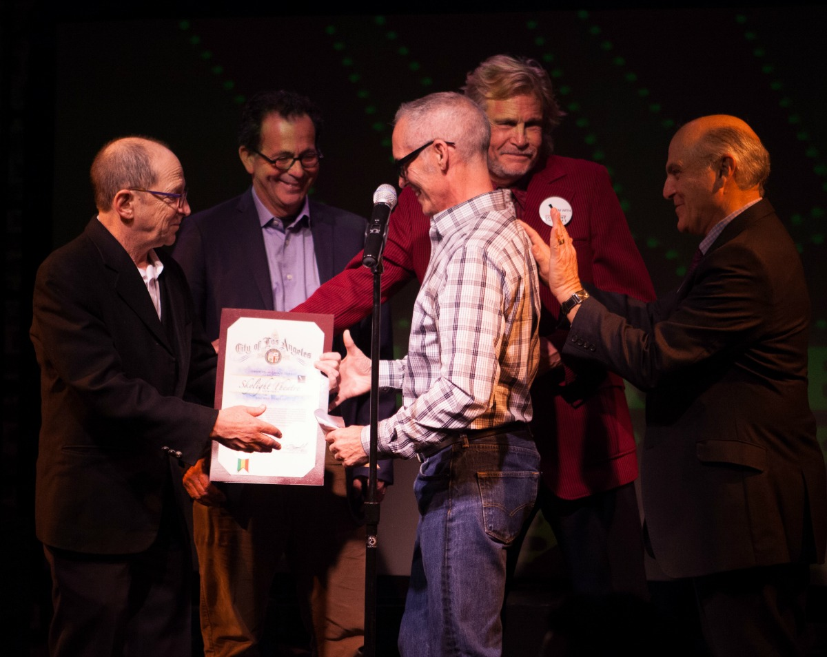 Mitch O'Farrell presents honor from City Supervisors to Gary Grossman, Skylight Theatre