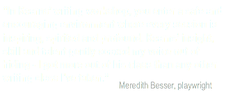 Besser on Michael Kearns writing class