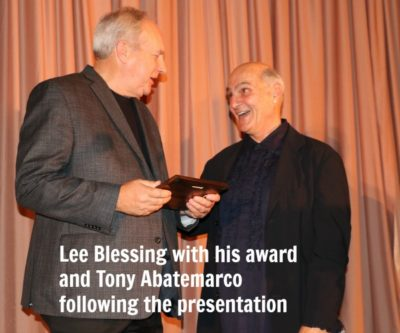 Lee Blessing (with Tony Abatemarco) honored at Skylight Salute 2018